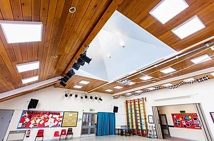 LED lighting solutions case study school hall